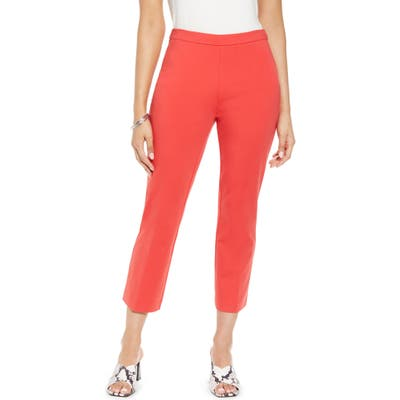 Halogen Kick Flare Ponte Knit Crop Pants, Red