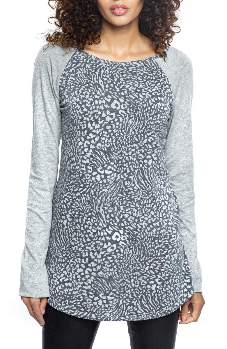 FOUND DENIM Animal Print Raglan Sleeve T-Shirt, Main, color, 039