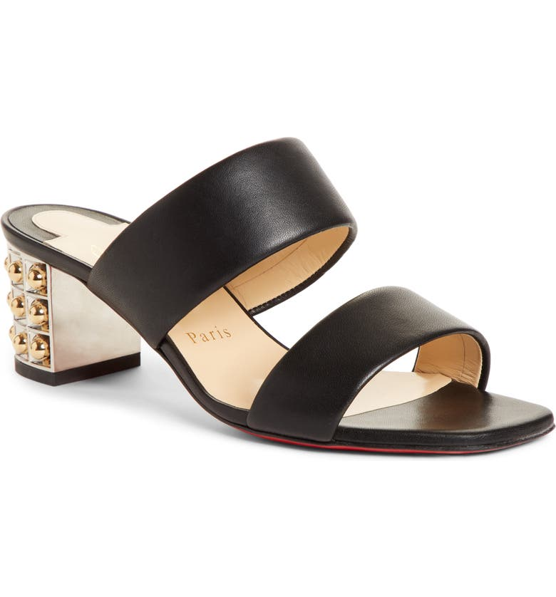 CHRISTIAN LOUBOUTIN Opticat Slide Sandal, Main, color, BLACK