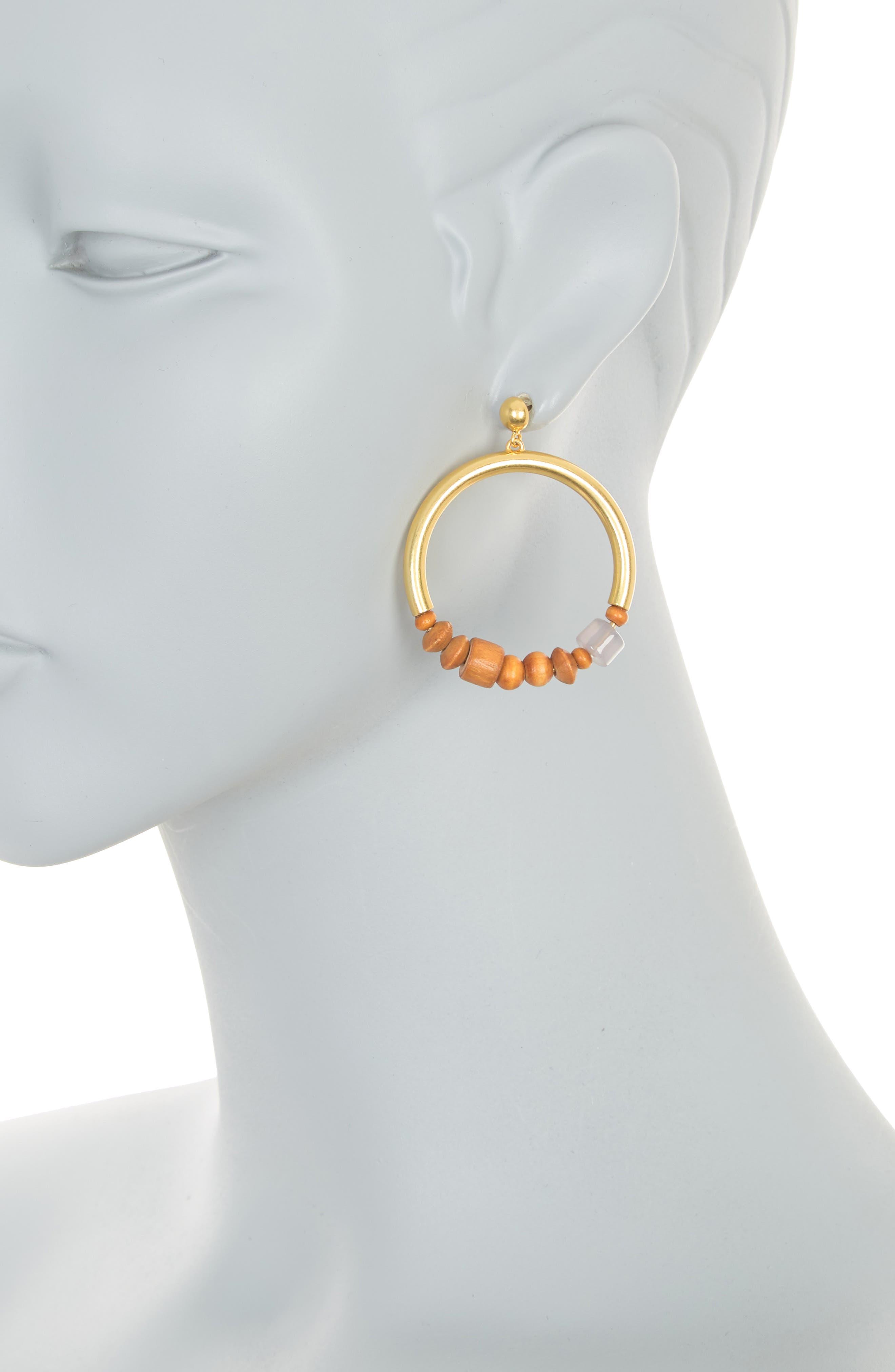 Image of Madewell Sunwashed Gypsy Hoop Earrings