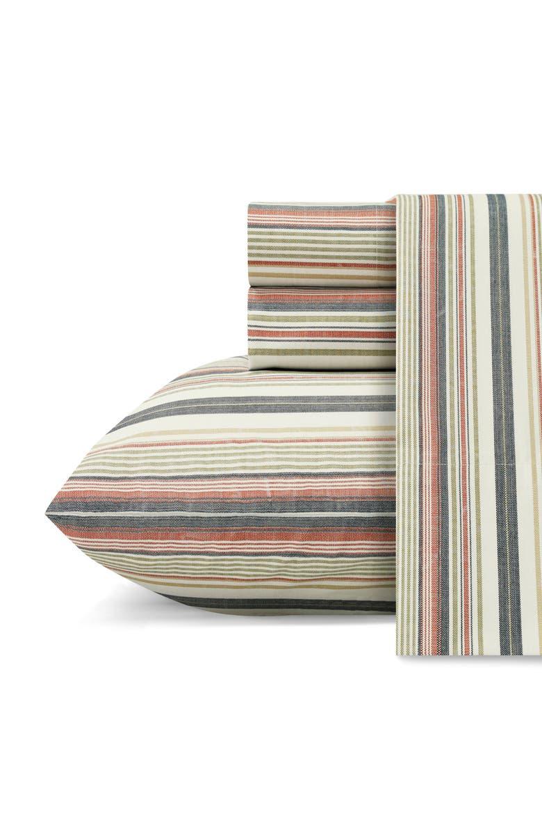 TOMMY BAHAMA Bay Stripe Set of 2 Pillowcases, Main, color, INDIGO