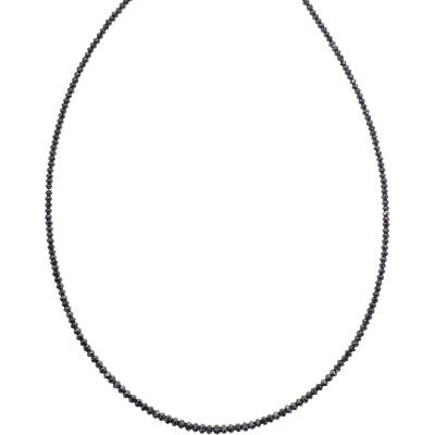 Sethi Couture Black Diamond Beaded Necklace