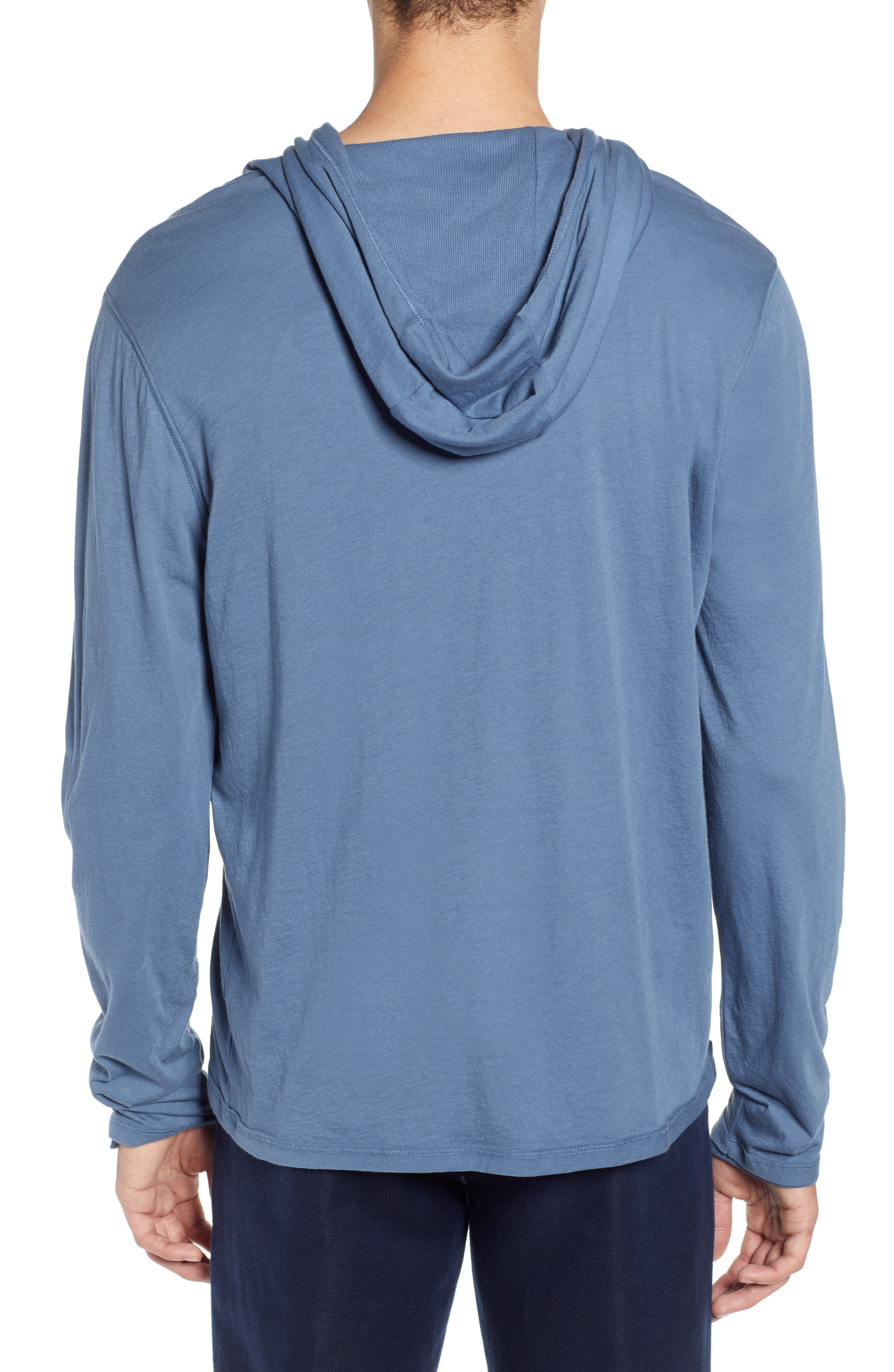,                             Double Layer Solid Hoodie,                             Alternate thumbnail 2, color,                             BERING SEA
