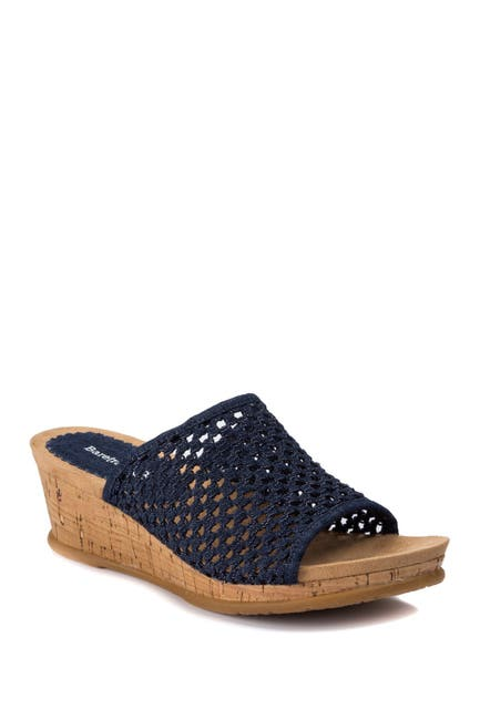 Image of BareTraps Flossy Woven Wedge Sandal