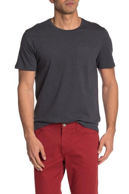 Image of Public Opinion Short Sleeve Striped Pocket T-Shirt