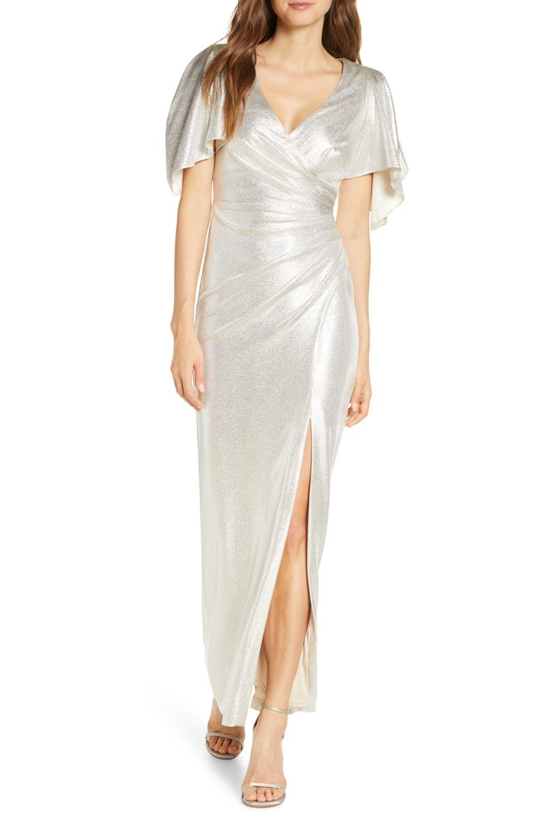 Ruched Metallic Gown   Nordstrom