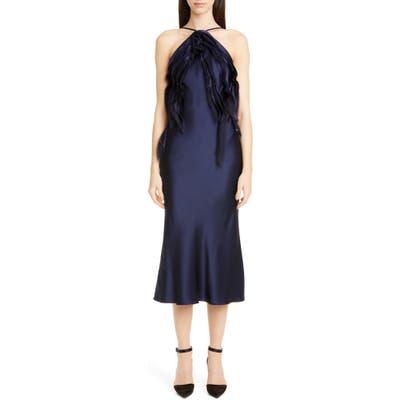 Jason Wu Collection Crepe Back Satin Cocktail Dress, Blue