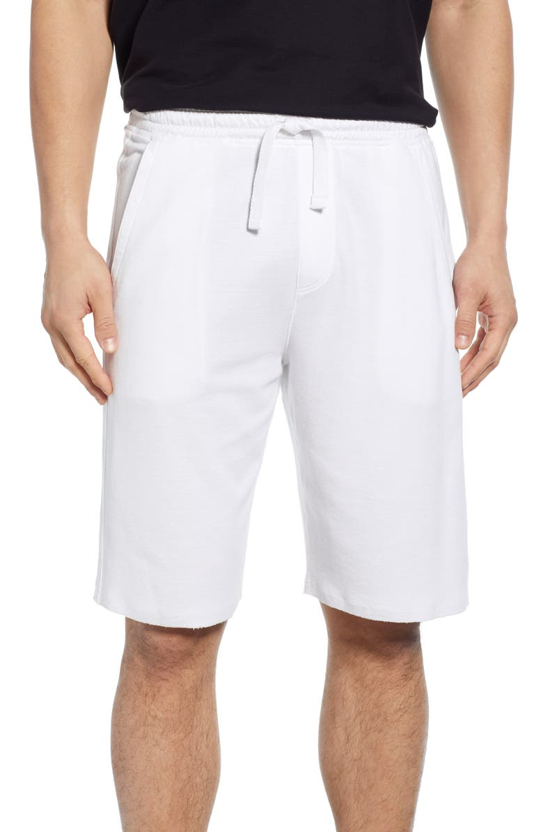 ATM ANTHONY THOMAS MELILLO Cutoff Piqué Shorts, Main, color, WHITE