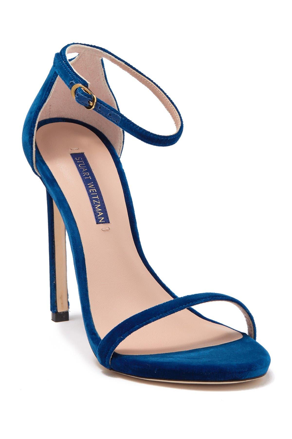 Image of Stuart Weitzman Nudist Stiletto Ankle Strap Sandal