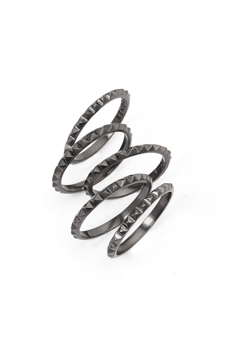KENDRA SCOTT 'Tucker' Stackable Midi Rings, Main, color, 001