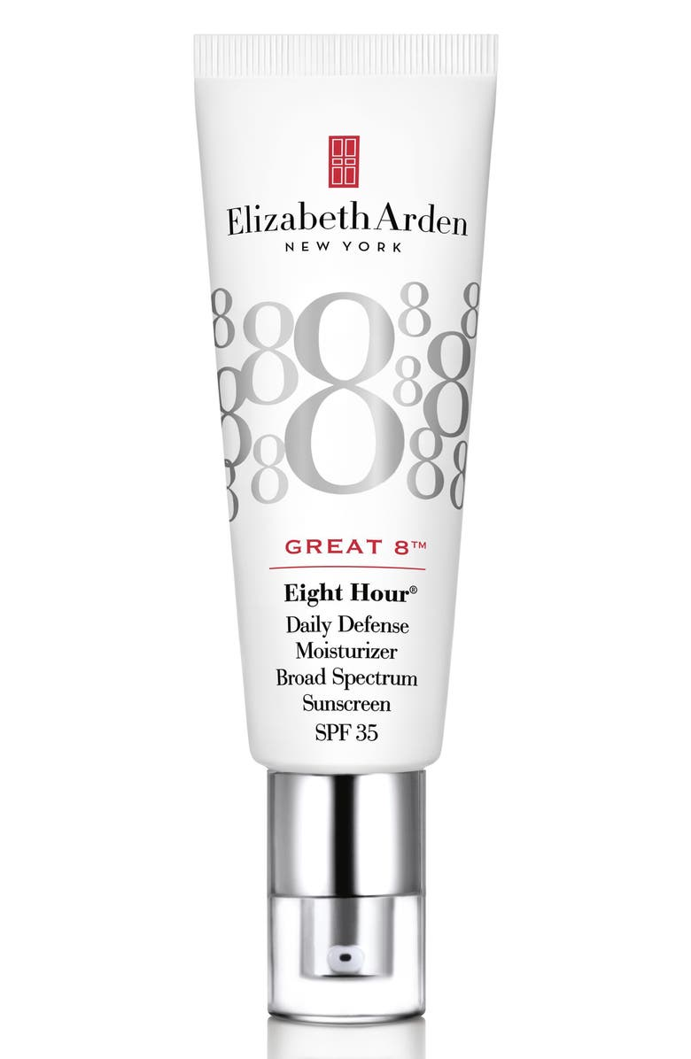 ELIZABETH ARDEN Eight Hour<sup>®</sup> Great 8<sup>™</sup> Daily Defense Moisturizer Broad Spectrum Sunscreen SPF 35, Main, color, NO COLOR