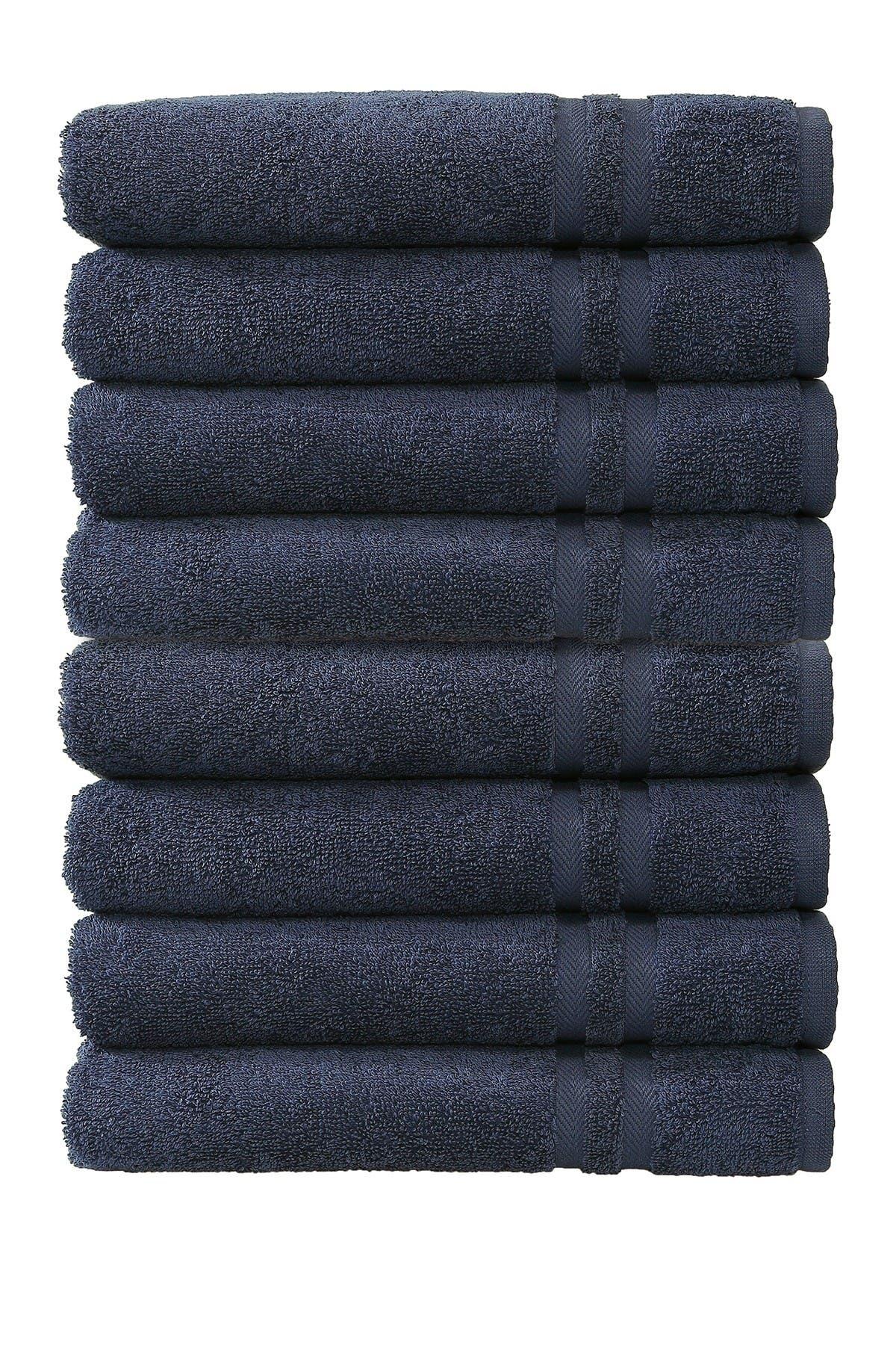 Image of LINUM HOME Denzi Hand Towels - Set of 8 - Twilight Blue