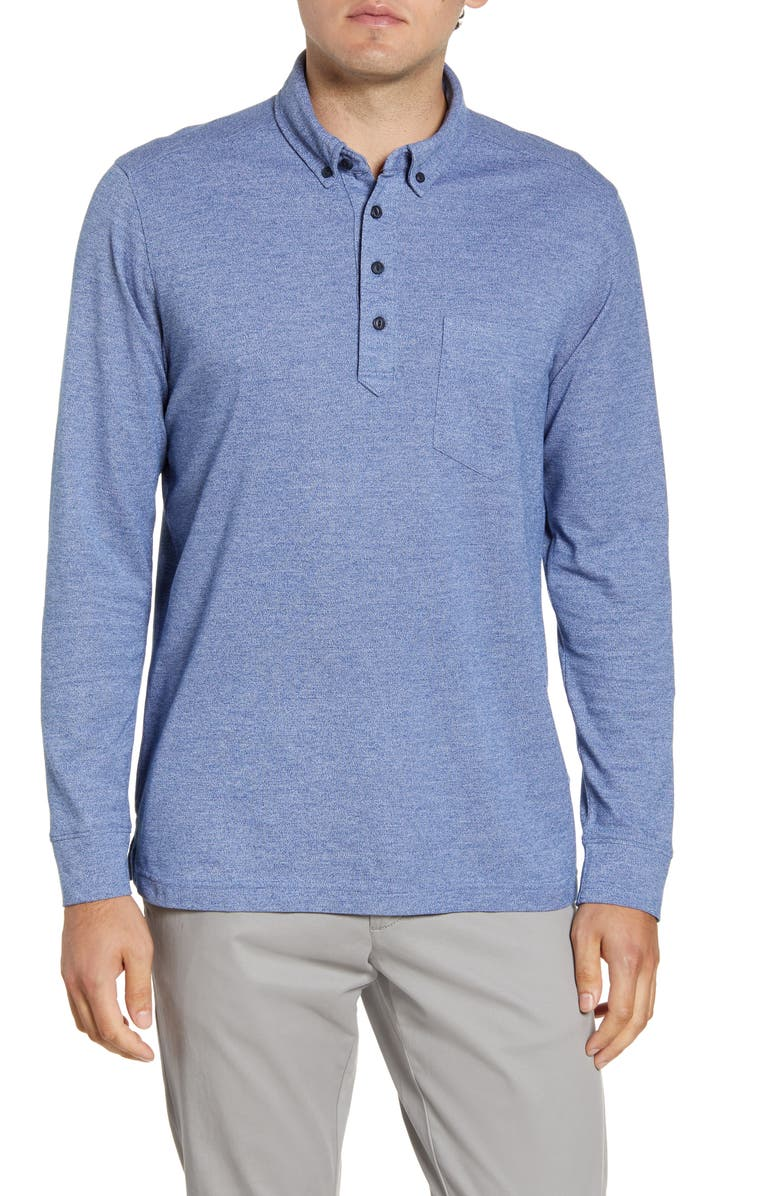 NORDSTROM MEN'S SHOP Regular Fit Long Sleeve Polo, Main, color, 420