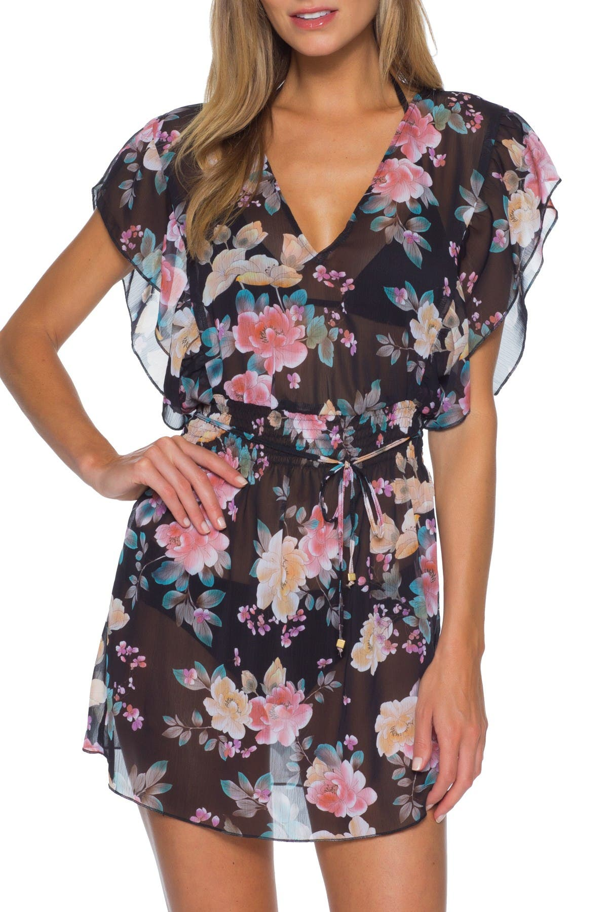 Image of BECCA First Date Floral Cover Up Tunic