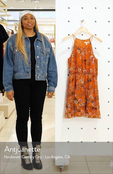 Tiered Chiffon Fit & Flare Dress, sales video thumbnail