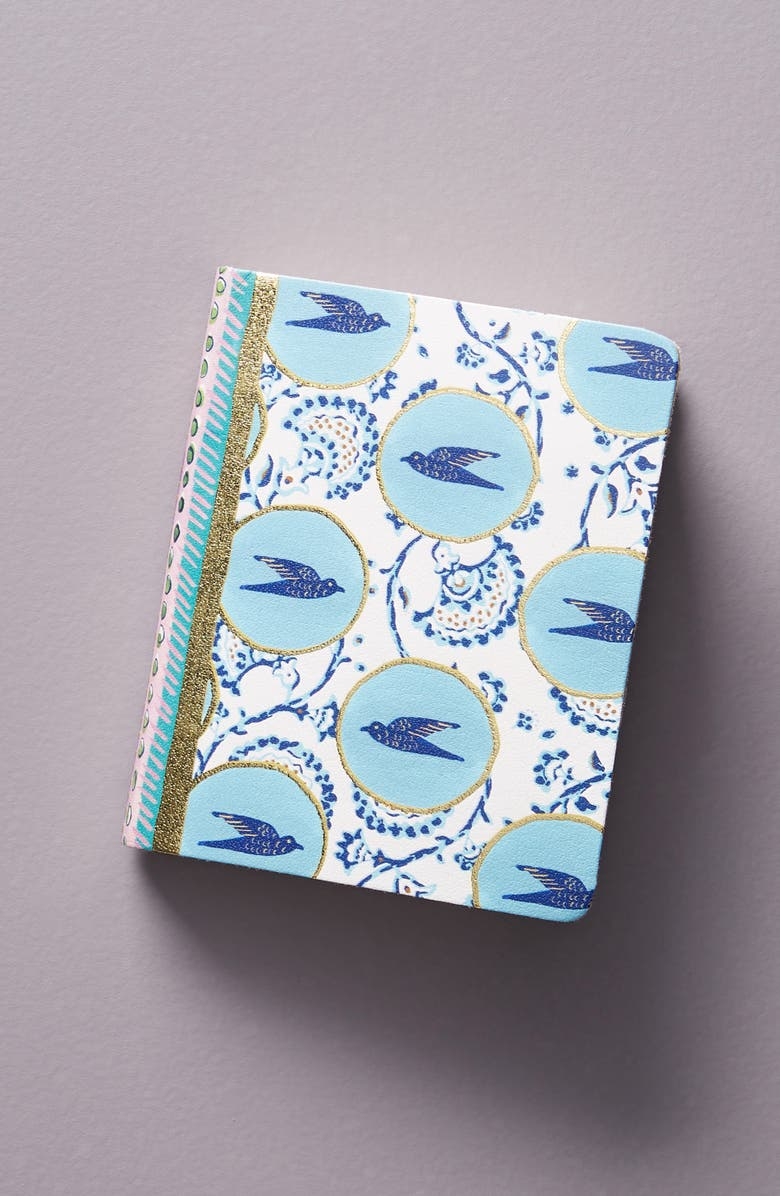 ANTHROPOLOGIE Small Batik Journal, Main, color, 440