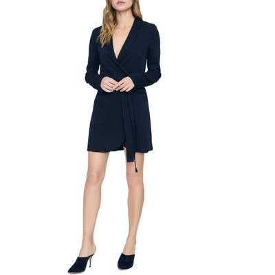Sanctuary Showstopper Double Breasted Long Sleeve Dress, Black