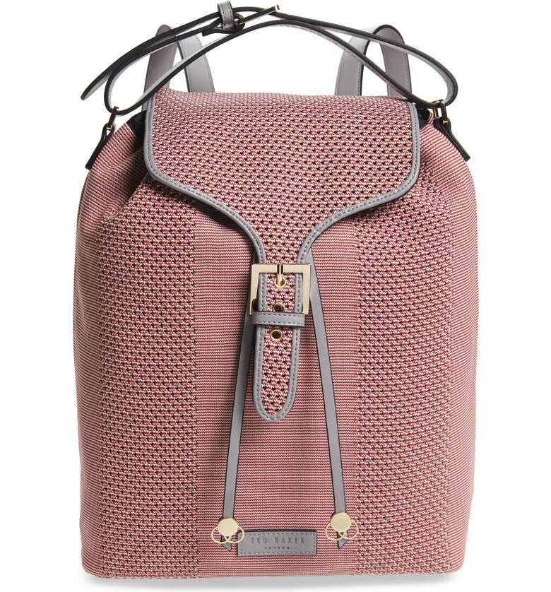 TED BAKER LONDON Inkypop Knit Backpack, Main, color, PINK