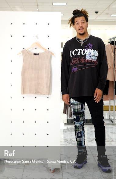 Crochet Sleeveless Cotton Blend Sweater, sales video thumbnail