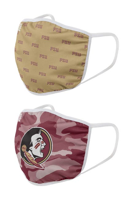 Image of FOCO NCAA Florida State Clutch Printed Face Cover - Pack of 2