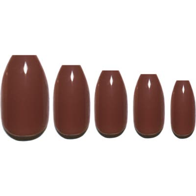 Static Nails Mocha Pop-On Reusable Manicure Set - Mocha
