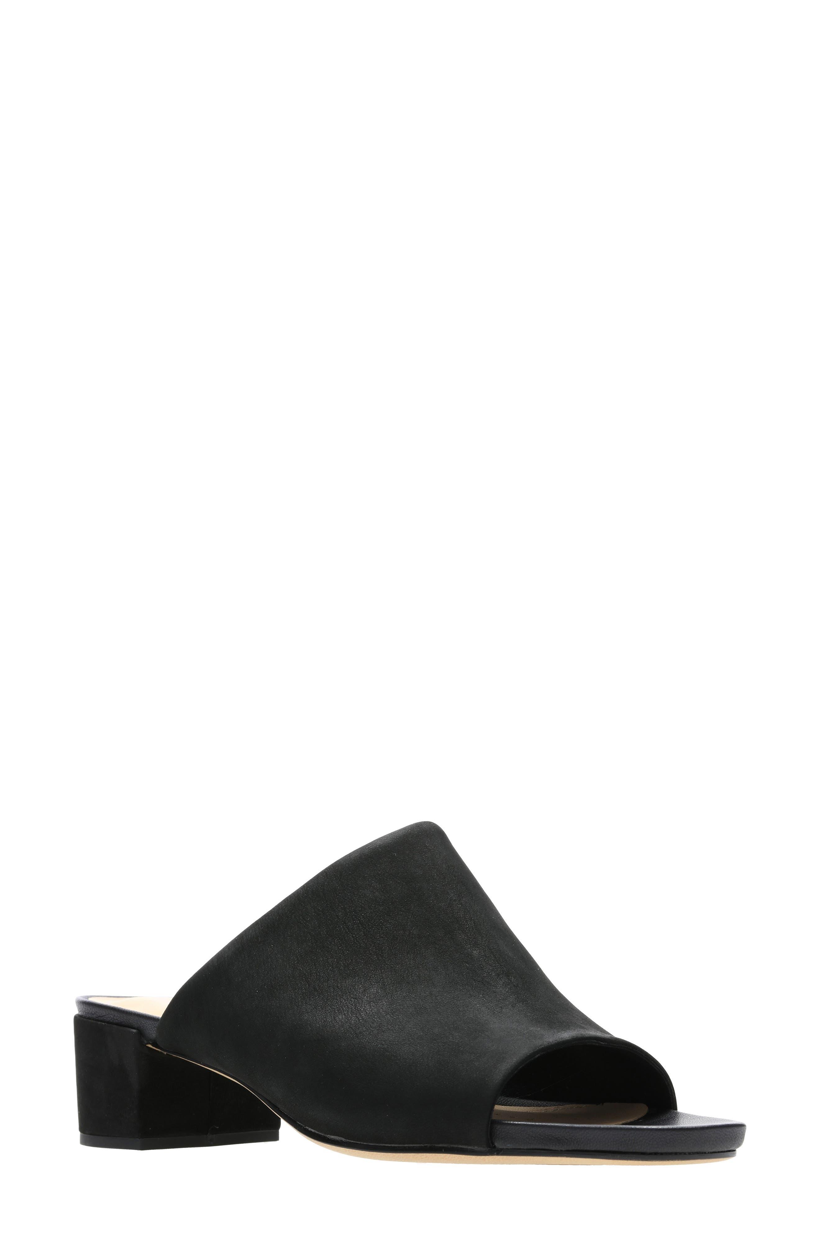 Orabella Daisy Sandal, Main, color, BLACK NUBUCK