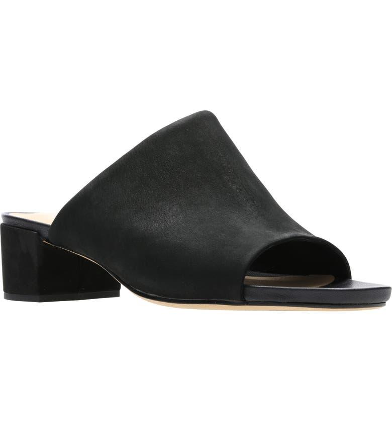 CLARKS<SUP>®</SUP> Orabella Daisy Sandal, Main, color, BLACK NUBUCK