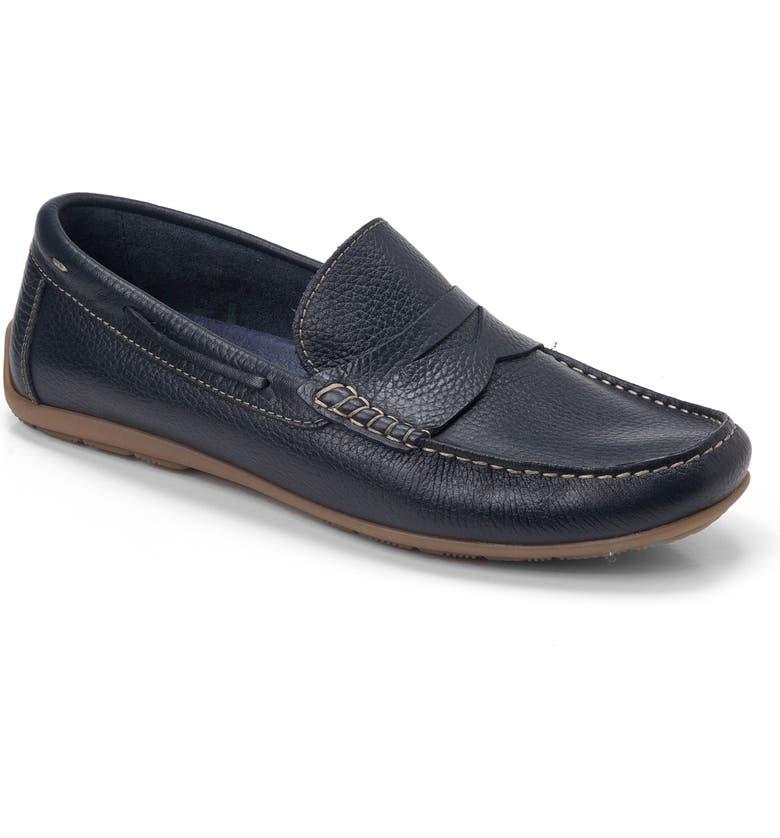 SANDRO MOSCOLONI Viseu Driving Shoe, Main, color, NAVY