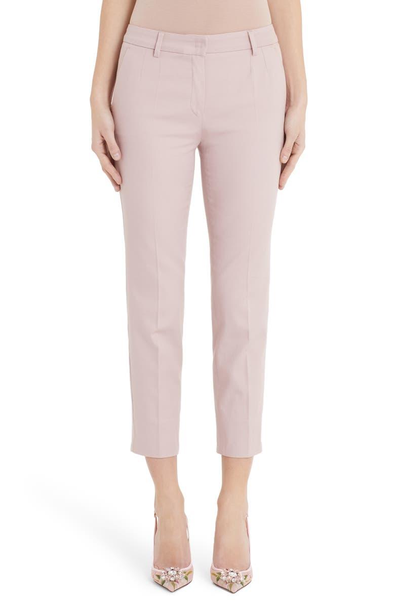 DOLCE&GABBANA Straight Leg Pants, Main, color, PINK