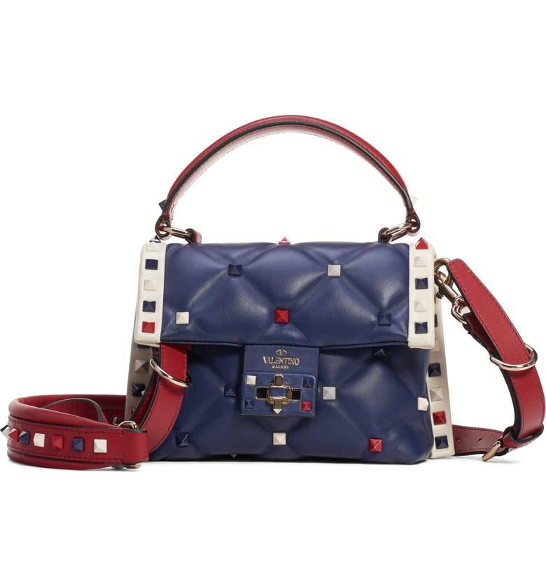 22f0761b00b96 VALENTINO GARAVANI Mini Candystud Top Handle Leather Satchel | Nordstrom
