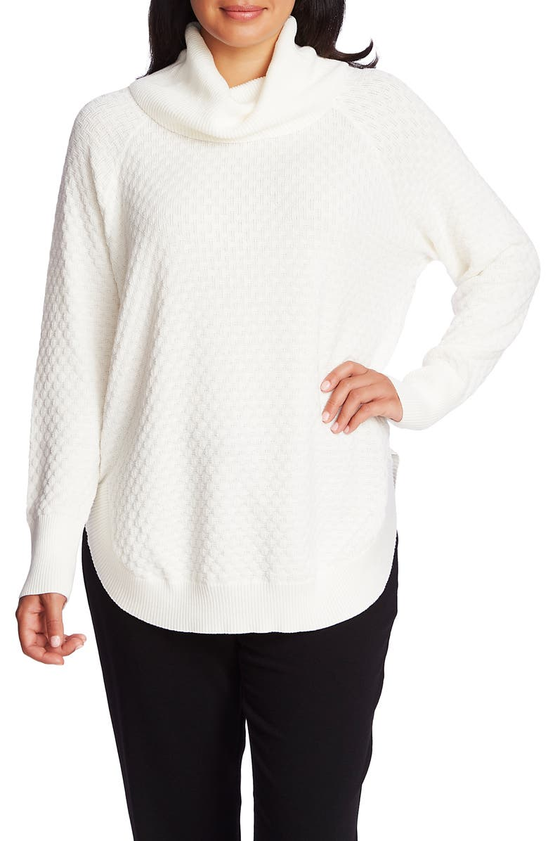CHAUS Cowl Neck Sweater, Main, color, ANTIQ. WHITE