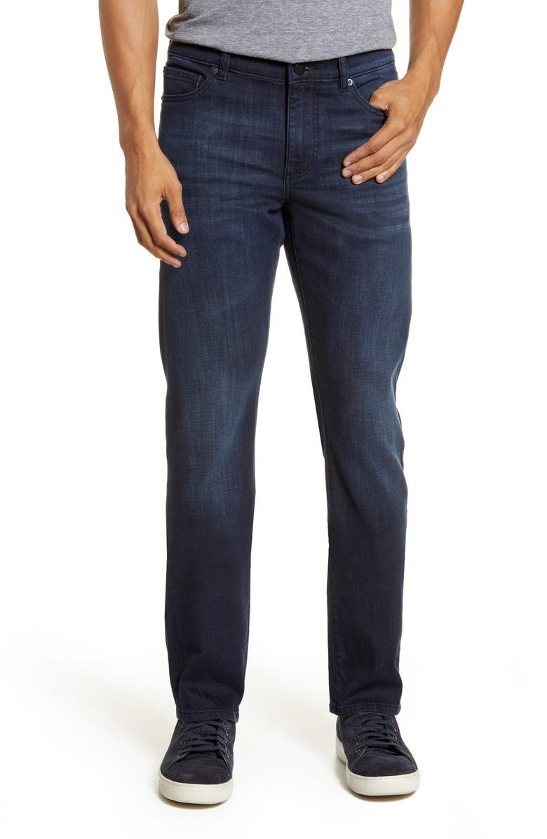 DL1961 Russell Slim Straight Fit Jeans, Main, color, INK