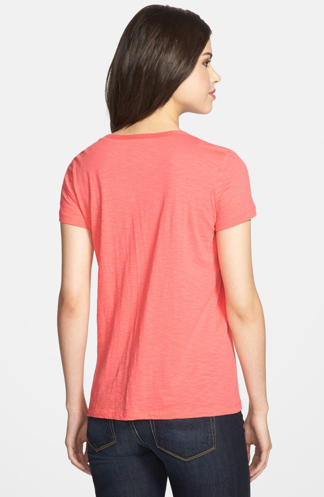 ,                             Relaxed Slub Knit U-Neck Tee,                             Alternate thumbnail 483, color,                             950