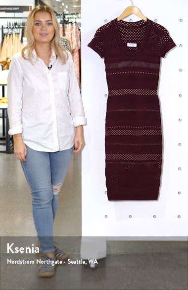 Lindsay Body-Con Sweater Dress, sales video thumbnail