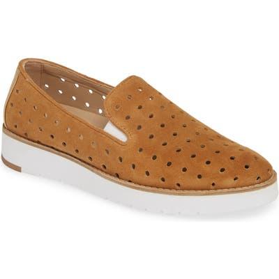 Johnston & Murphy Penelope Perforated Slip-On Sneaker, Brown