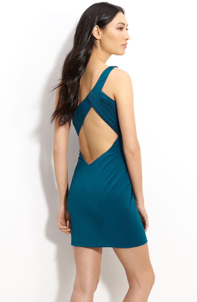 LA FEMME Fashions Cutout Back Jersey Minidress, Main, color, 440