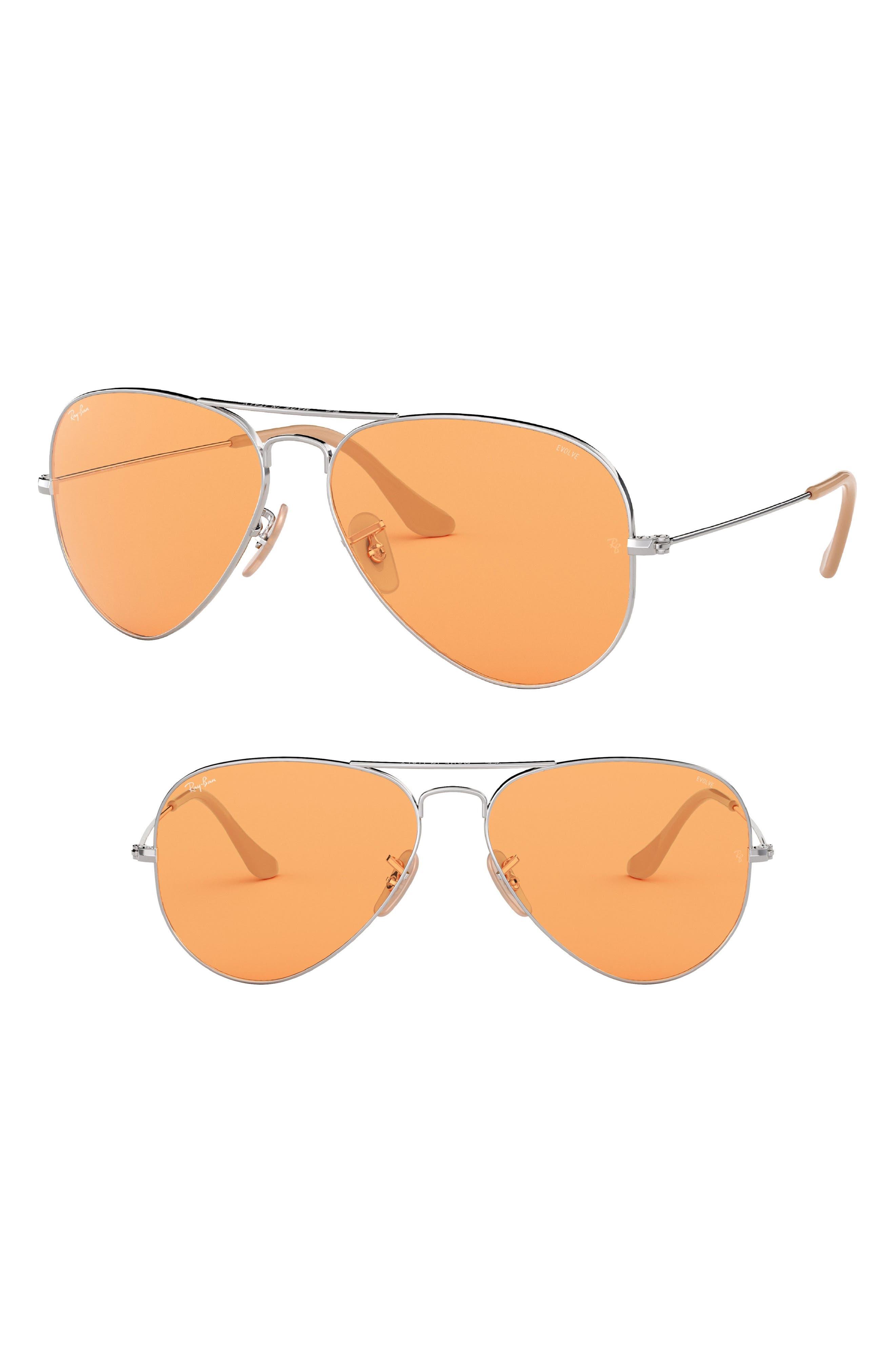 Image of Ray-Ban Evolve 55mm Photochromic Aviator Sunglasses