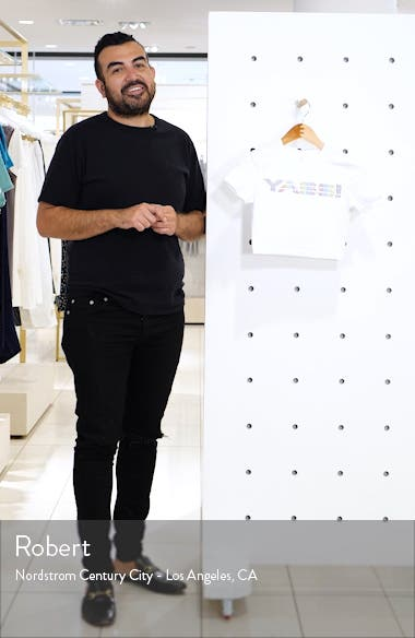 Yass Logo Stretch Cotton Crop Tee, sales video thumbnail