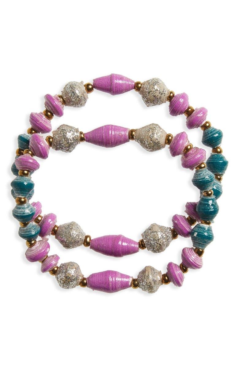 31 BITS 'Dream Together - Bracelets for Besties' Stretch Bracelets, Main, color, 500