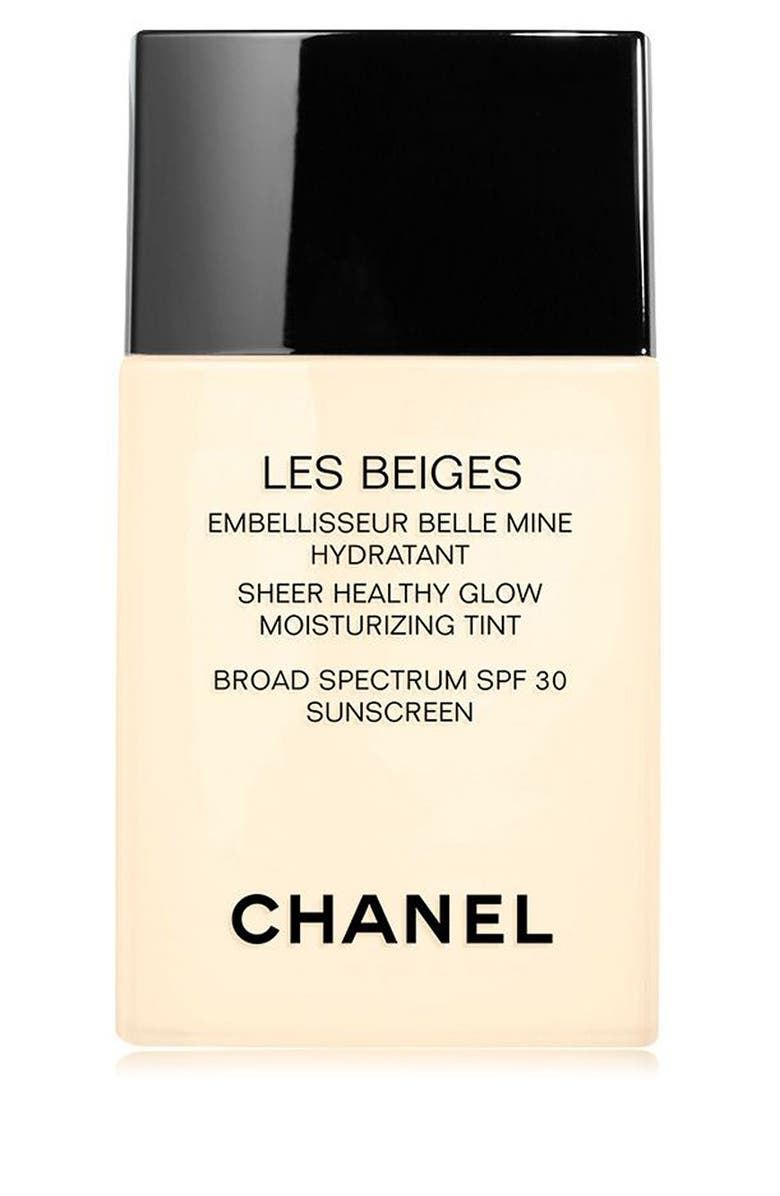 CHANEL LES BEIGES SHEER HEALTHY GLOW <br />Moisturizing Tint Broad Spectrum SPF 30, Main, color, MEDIUM PLUS