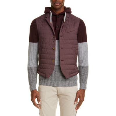 Eleventy Packable Quilted Vest, Red