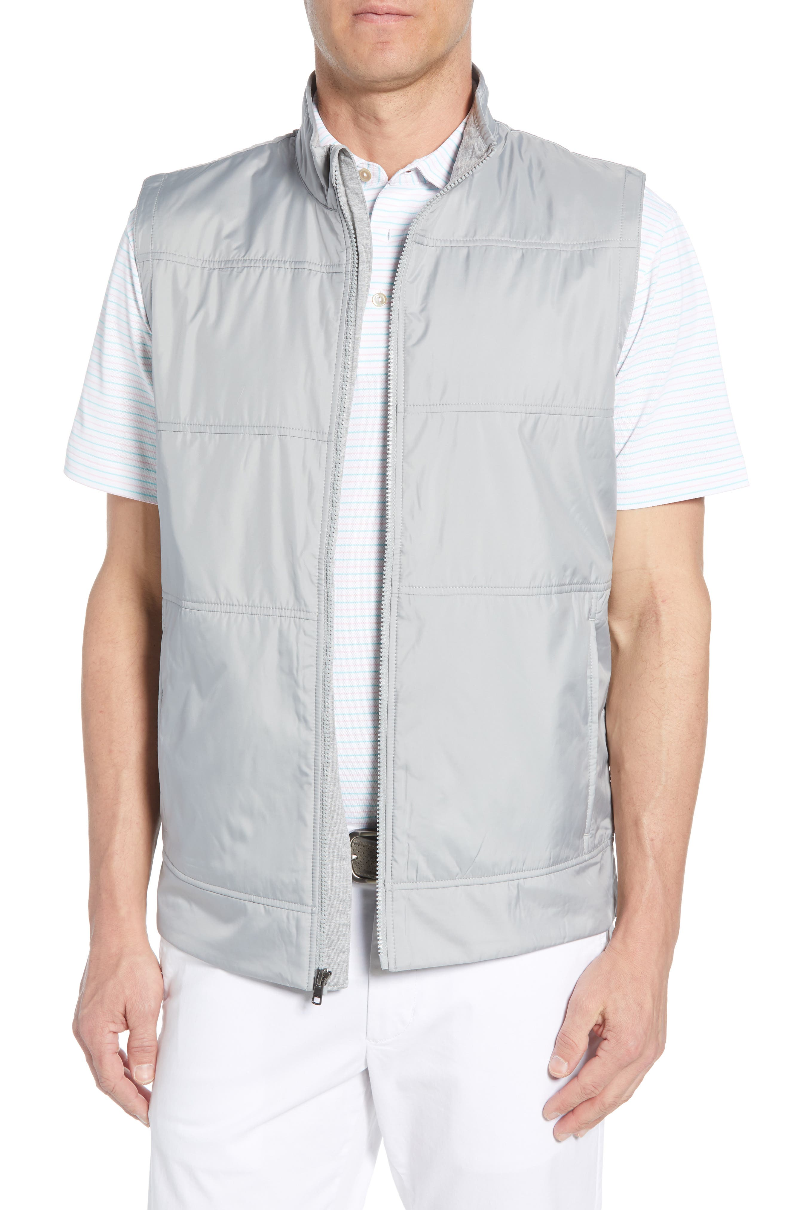 Big & Tall Cutter & Buck Stealth Quilted Vest, Grey