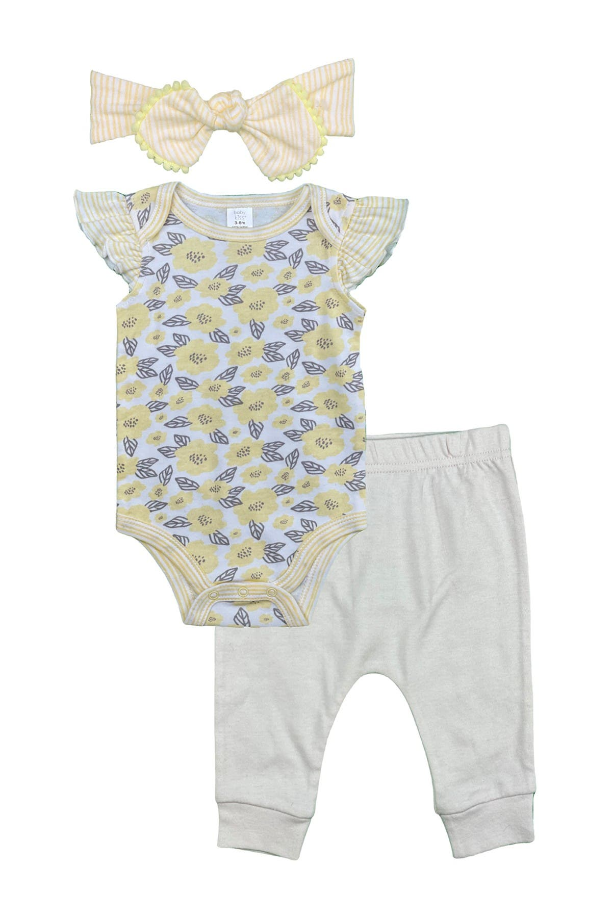 Image of Modern Baby Bodysuit, Pants & Headband