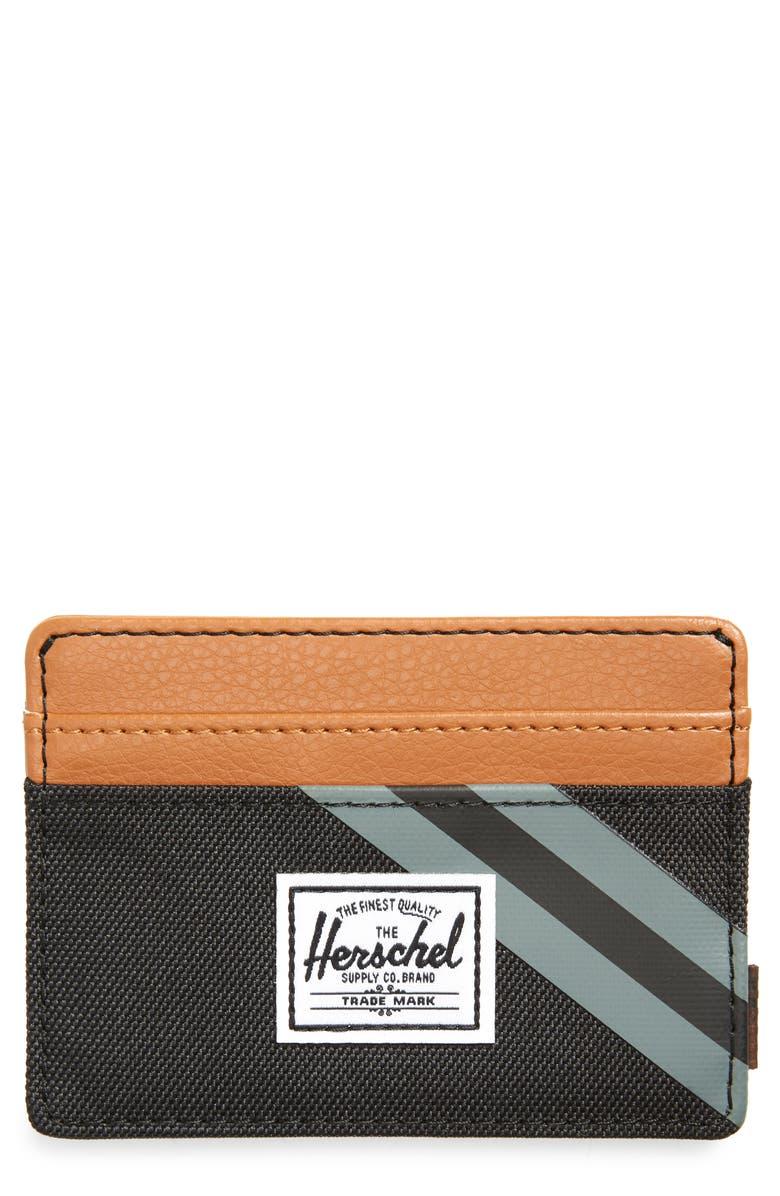 HERSCHEL SUPPLY CO. Charlie RFID Card Holder, Main, color, BLACK