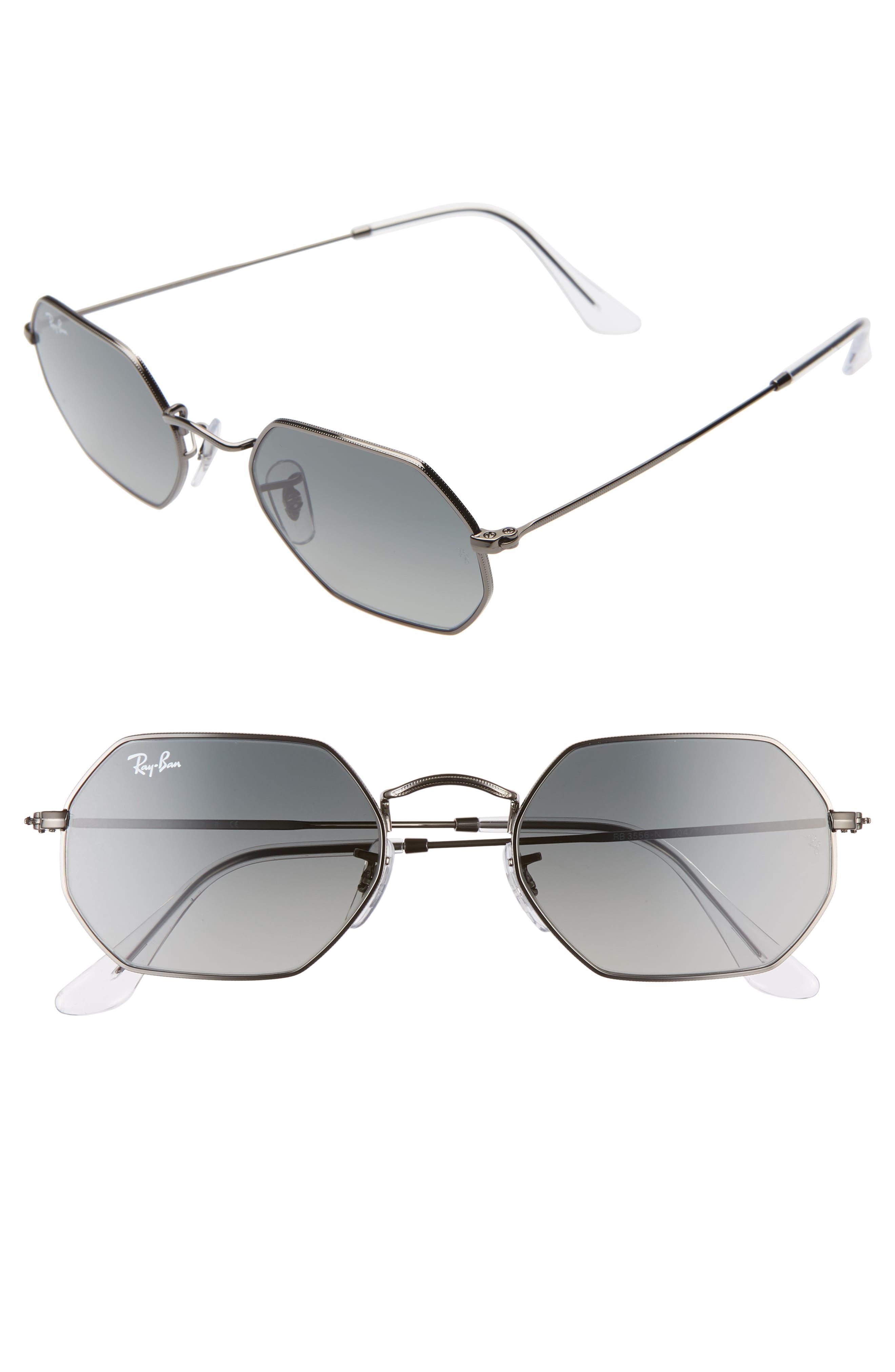 Ray-Ban 5m Rectangular Sunglasses - Gunmetal/ Grey Gradient