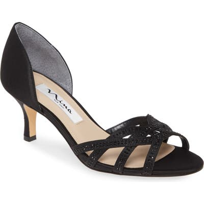 Nina Cissy Crystal Embellished Sandal- Black