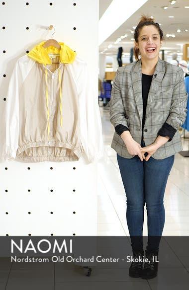 Contrast Sleeve Jacket with Detachable Hood, sales video thumbnail