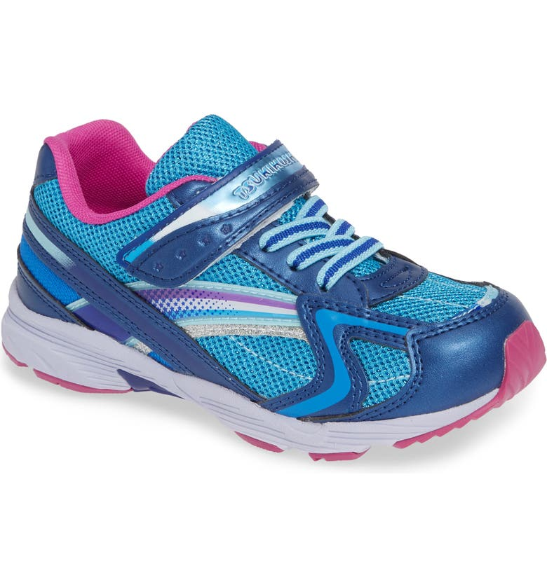 TSUKIHOSHI Glitz Washable Sneaker, Main, color, NAVY/ BERRY