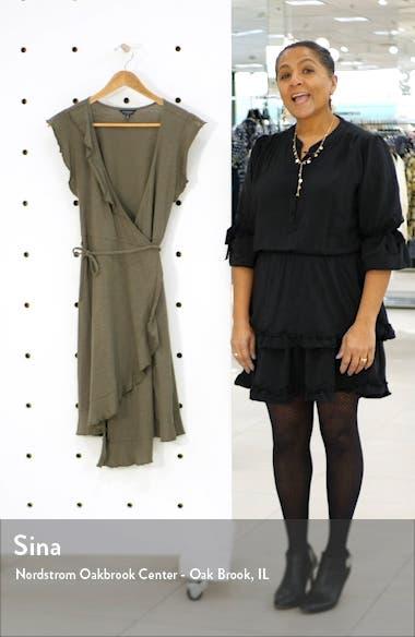 Spring Fling Ruffle Cotton Knit Wrap Dress, sales video thumbnail