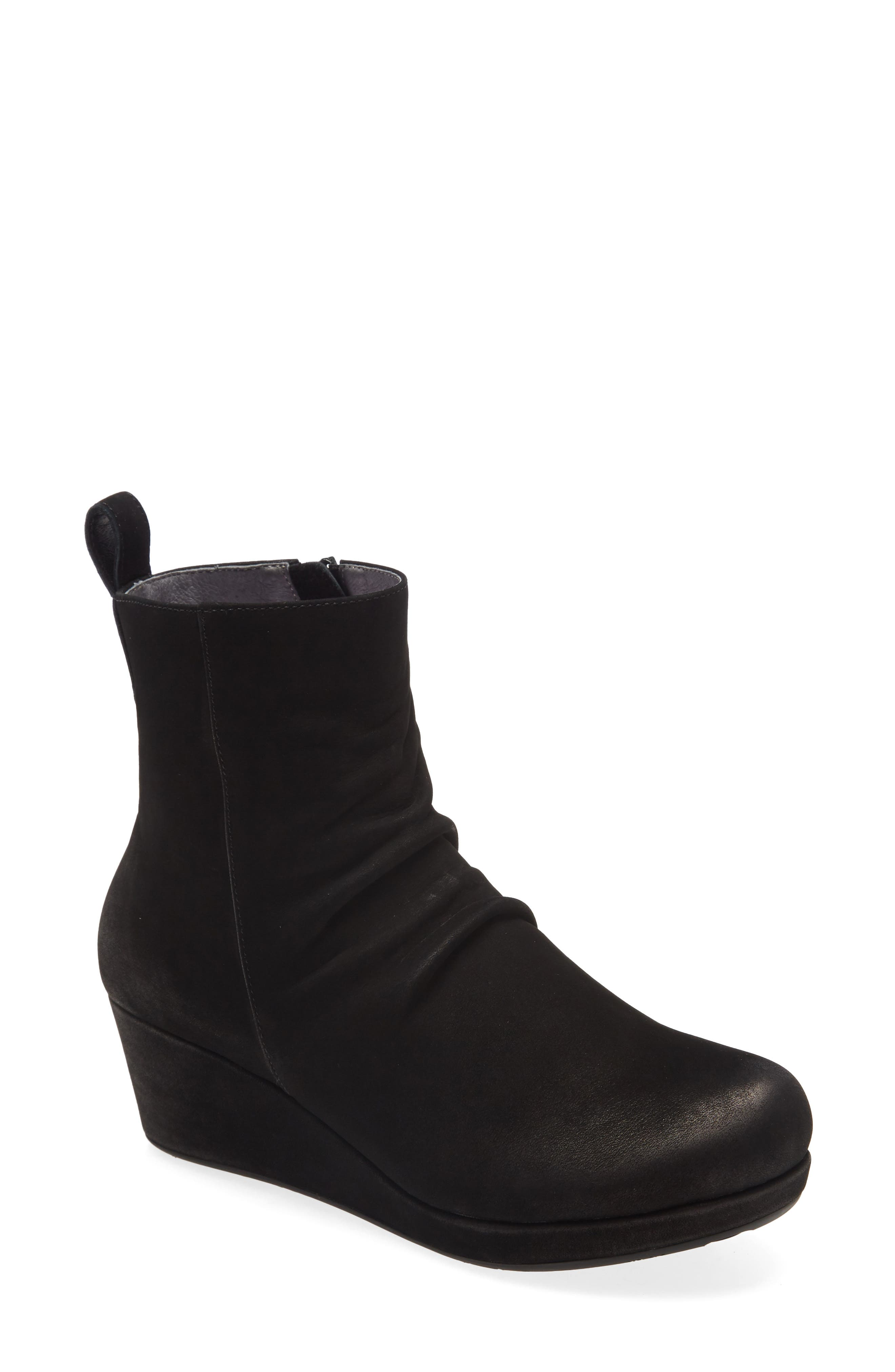 Yash Slouchy Leather Wedge Bootie